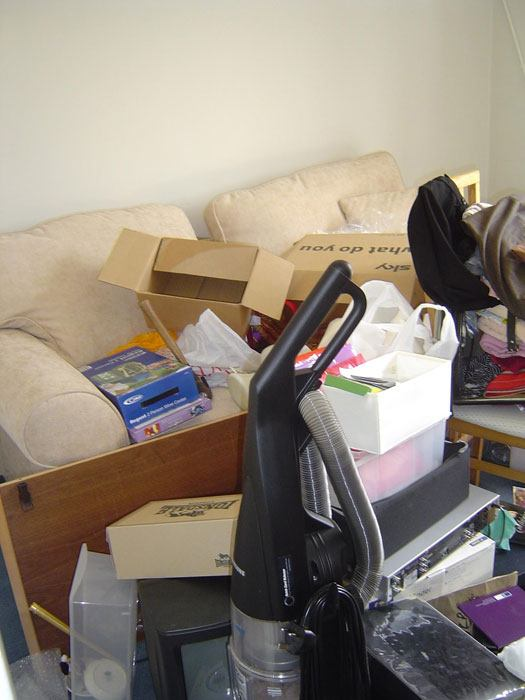 clutter before